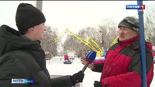 В Омских парках началась подготовка к новому году