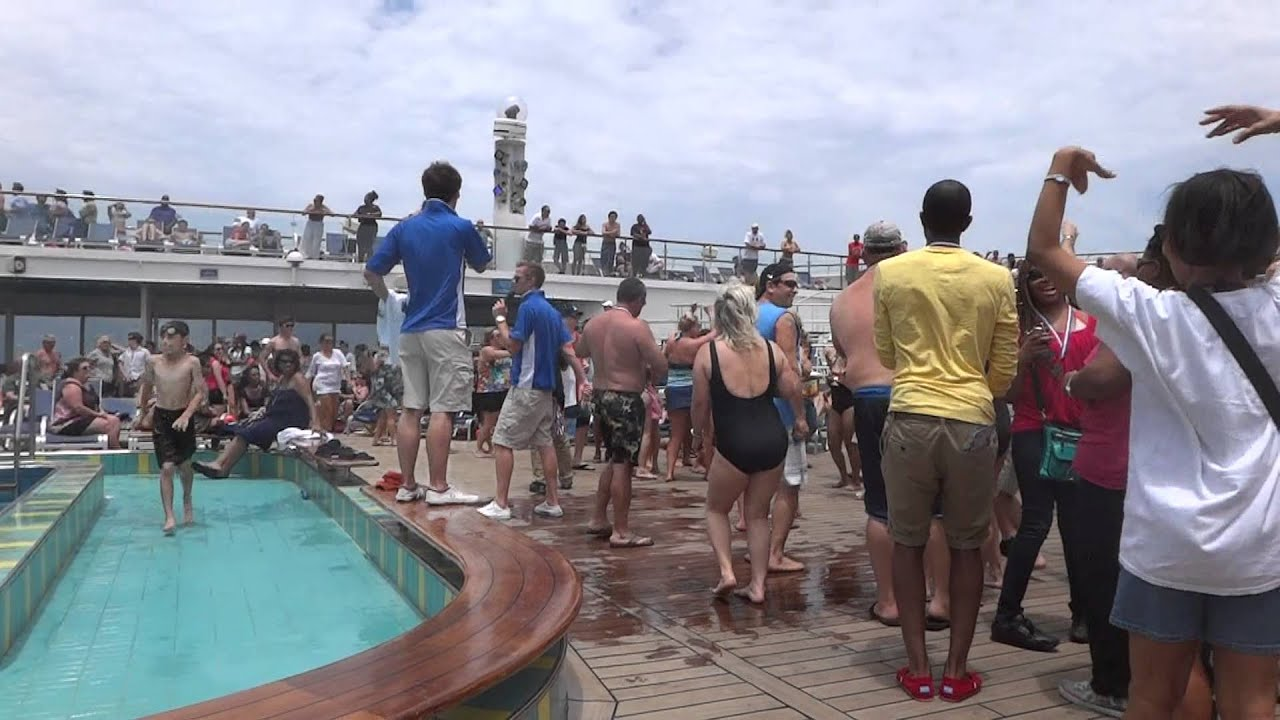 Carnival Cruise Ship Lido Deck Pool Party Fun Awesome May