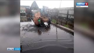 Запад Омской области уходит под воду