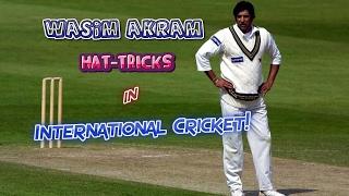 All Wasim Akram Hat-Tricks in Cricket | SULTAN OF SWING...KING OF YORKERS!!