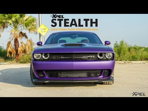 #STEALTHcat - Full XPEL STEALTH Satin Finish Wrapped Dodge Challenger SRT Hellcat by The Sign Savers