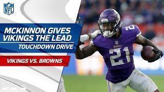 Jerick McKinnon Scores TD & 2-Pt Conversion | Vikings vs. Browns | NFL Week 8 Highlights