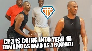 15 YEAR NBA VET Chris Paul STILL GRINDS HIS A** OFF!! | Workout with Johnny 'Dribble2Much' Stephene
