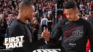 'Sadly,' I don't think Damian Lillard and CJ McCollum can beat the Nuggets – Stephen A.   First Take