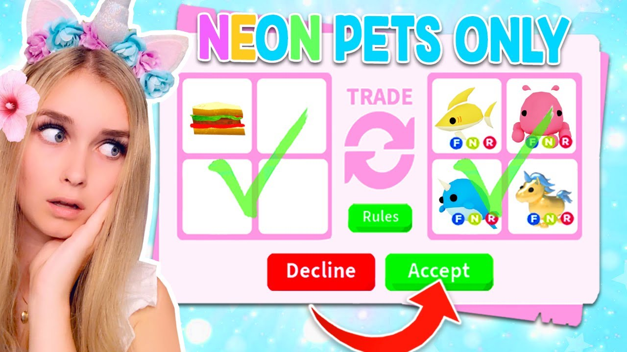 Only Trading Neon Pets