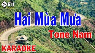 Karaoke Hai Mùa Mưa Tone Nam Nhạc Sống | Beat Chuẩn Cực Hay