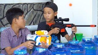 NERF GUN SNIPER GUN BATTLE