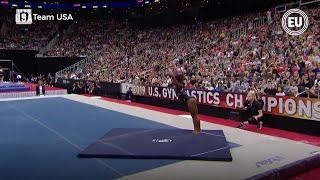 Simone Biles consigue un triple-doble, un movimiento que ninguna mujer había logrado en competición
