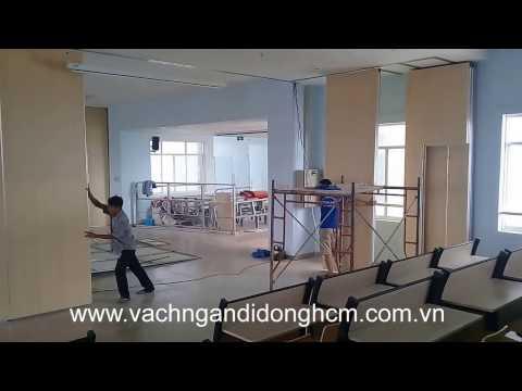 Thi công vách ngăn di động cho hội trường đại học Nguyễn Tất Thành, Q12