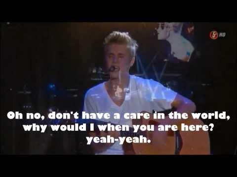 Justin Bieber - Never Let You Go - Live (Lyrics)