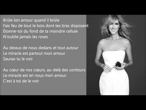 Le Miracle - Céline Dion - EasyREAD Lyrics