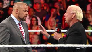 Ric Flair warns Triple H about Sting: Raw, February 16, 2015