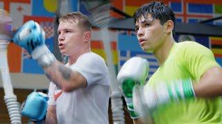 Training Camp Day 1: Sparring at Canelo Álvarez's Gym   Ryan Garcia Vlogs