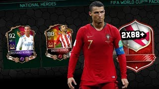 *WE PACK 3 INSANE 88+ NATIONAL HEROES WORLD CUP ELITES* FIFA MOBILE WORLD CUP NATIONAL HEROES PACKS