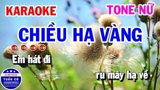 Karaoke Chiều Hạ Vàng Tone Nữ Bm Nhạc Sống || Karaoke Tuấn Cò