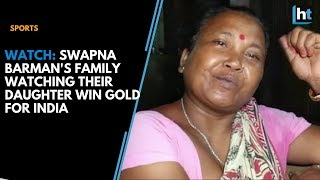 Swapna's mom crying while watching her win gold touched Vi..