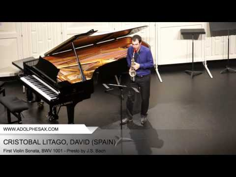 Dinant 2014 - CRISTOBAL LITAGO, David (First Violin Sonata, BWV 1001 - Presto by J.S. Bach)