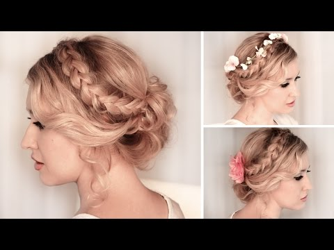 Braided Updo ❤ Hairstyle for medium/long hair tutorial
