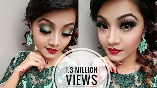 Minty Green Eye Makeup Tutorial - Wedding Guest / Party Makeup Look