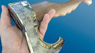 Vikings' Antique Hatchet Restoration. It's just charm!