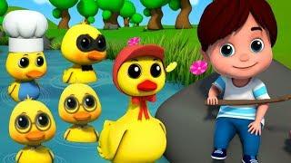 cinque piccole anatre | anatre rime per bambini | canzoni per bambini | Five Little Ducks