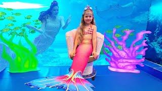 Diana and Roma visited Mermaids of Arabia in Dubai. Magical Mermaid & Pirate transformation!