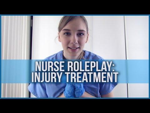 [BINAURAL ASMR] Nurse Roleplay: Injury Treatment (softly spoken, latex gloves, water, crinkling)