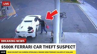 Top 5 DUMB THIEVES CAUGHT RED HANDED! (Ferrari Thief Caught on Video) - Thief Caught on Camera 2019!