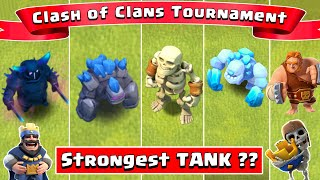 Who's the STRONGEST TANK in Clash Of Clans?? Clash of Clans Olympics | New PEKKA | GOLEM | YETI