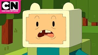 Adventure Time | Finn vs Enderman Minecraft Episode | Cartoon Network