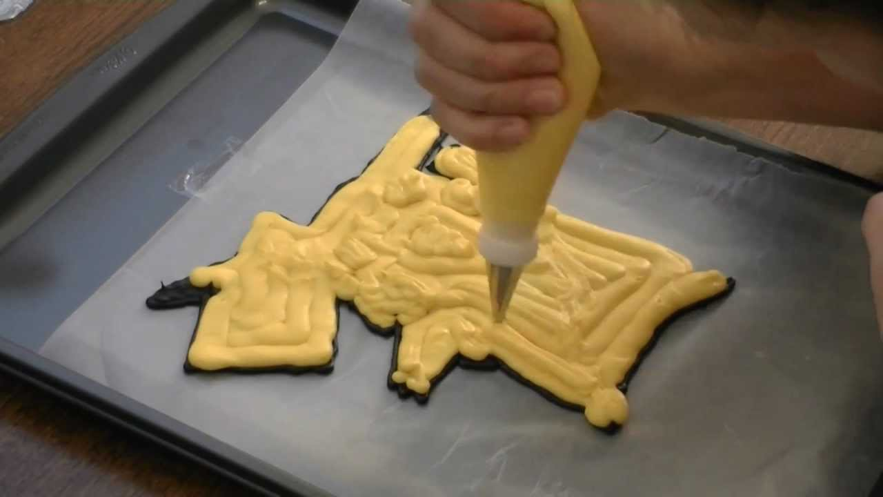 Frozen Buttercream Transfer Pikachu Pokemon Cake By