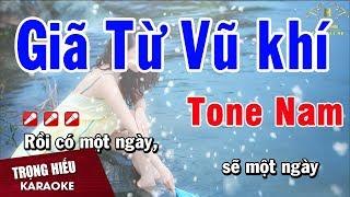 Karaoke Giã Từ Vũ Khí Tone Nam Nhạc Sống | Trọng Hiếu