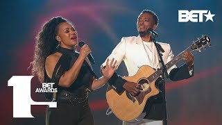 """Kirk Franklin, Jonathan McReynolds, Erica Campbell & Kelly Price """"Love Theory""""   BET Awards 2019"""