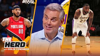 The Lakers are an 'antique store' after signing Carmelo Anthony — Colin | NBA | THE HERD