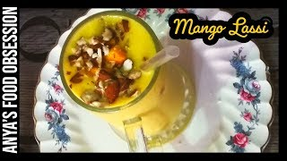 Restaurant Style Mango Lassi Recipe (Sweet Lassi) - How to make Mango Yogurt Smoothie