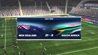 Rugby World Cup 2015 PS4. New Zealand V South Africa Semi Final.