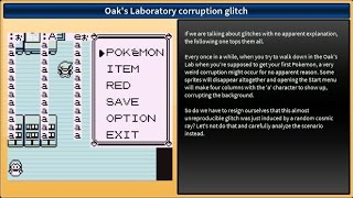 Pokemon Red/Blue - Three glitches with no apparent explanation