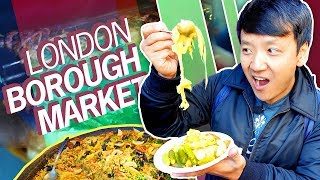 1,000 YEAR OLD FOOD MARKET! British Food Tour of Borough Market in LONDON