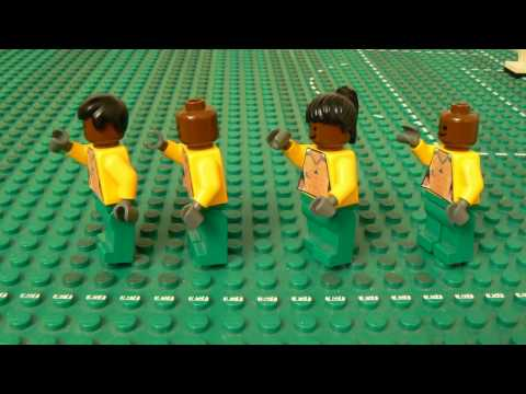 Mecz RPA-Meksyk MŚ 2010 w wersji Lego