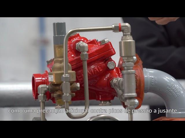 Válvula redutora de pressão de proteção contra incêndio BERMAD FP- 42T / 42T-20