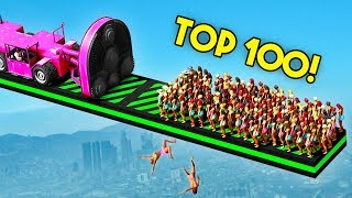 TOP 100 FUNNIEST GTA 5 FAILS EVER! (Funny Moments Grand Theft Auto V Compilation) - YouTube