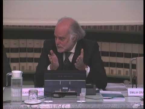 """Il prof. Riccardo Zerbetto presenta il libro """"Il senso del gioco"""" in Senato (1di2)"""
