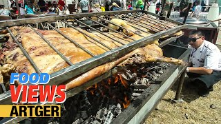 Roasting A Whole Lamb At The Nomadic BBQ Festival | Street Food In Mongolia