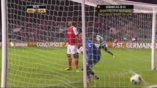 هدف سبورتينغ لشبونة الأول ضد براغا