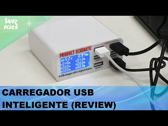 CARREGADOR USB INTELIGENTE 6A (REVIEW)