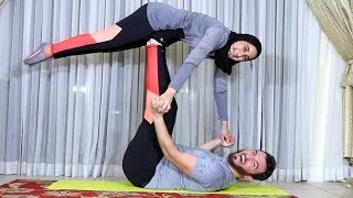 COUPLES YOGA WITH MY LITTLE SISTER!!