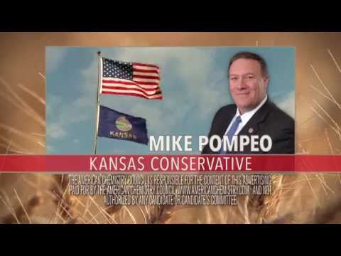 The American Chemistry Council supports Representative Pompeo of Kansas. (https://pompeo.house.gov/)