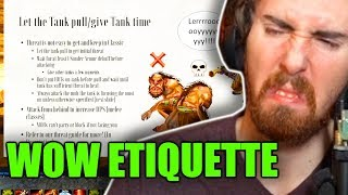 """Asmongold Reactions """"The Guide to Classic WoW Etiquette - Tips for New and Returning Players"""""""