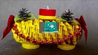 Vánoční pletení z papíru od Aknelky