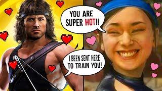 MK11 - RAMBO FLIRTY INTROS & ROAST INTROS Vs All Female Kombatants - Mortal kombat 11 Rambo Intros